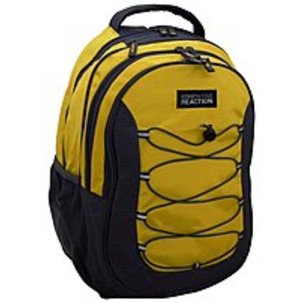 Kenneth Cole Reaction Laptop Backpack With Bungee Cords (Yellow/Gray) by Kenneth Cole REACTION