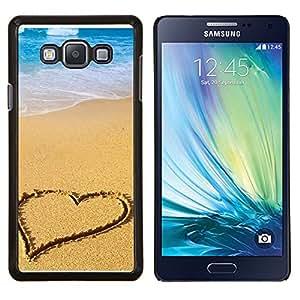 For Samsung Galaxy A7 A7000 Case , Corazón de la playa- Diseño Patrón Teléfono Caso Cubierta Case Bumper Duro Protección Case Cover Funda