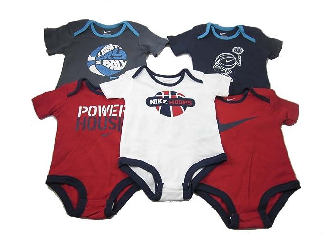 329ec18b4 Nike 5 Infant Baby Boy Bodysuits One Piece Clothes Basketball Set 0-12  Months (