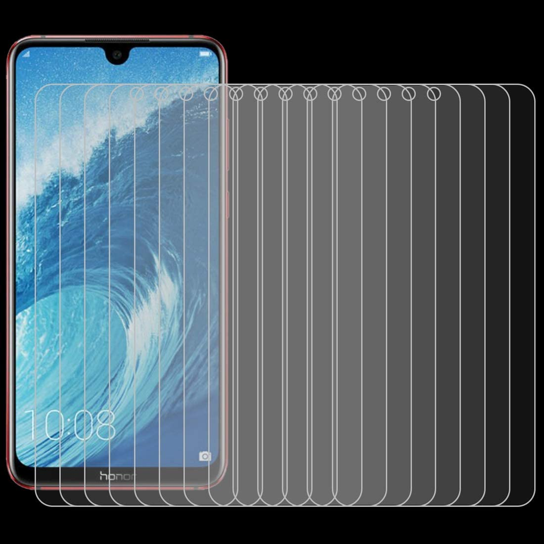 ZHANGYUNSHENG 100 PCS 0.26mm 9H 2.5D Explosion-Proof Tempered Glass Film for Huawei Honor 8X Max zys