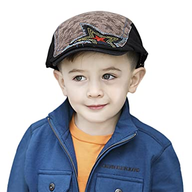 Kids Baby Toddler Fashion Star Baker Boy Newsboy Flat Peaked Cap Beret Ivy  Cabbie Driver Cap Hat for Child Age 2-10Y  Amazon.in  Clothing   Accessories 390fe8f36fa