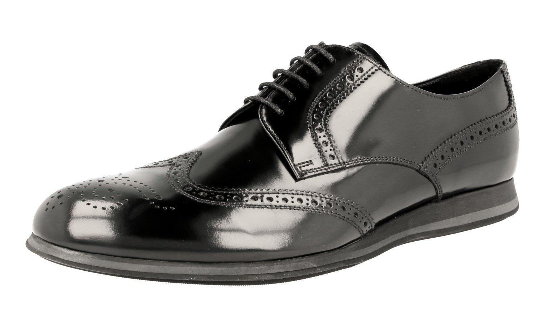Prada Men's 4E2650 89A F0002 Black Full Brogue Leather Business Shoes EU 7.5 (41,5)/US 8.5