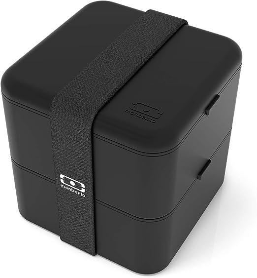 MonBento MB Square-Noir-Le Square Bento Box
