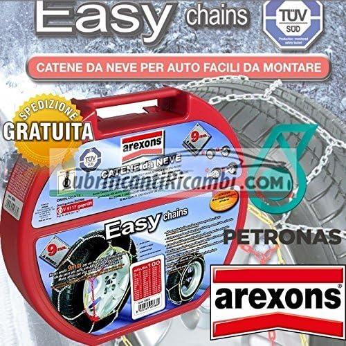 AREXONS PETRONAS Catene da Neve Auto 9 mm Easy omologate TUV e GS Onorm Misura 070