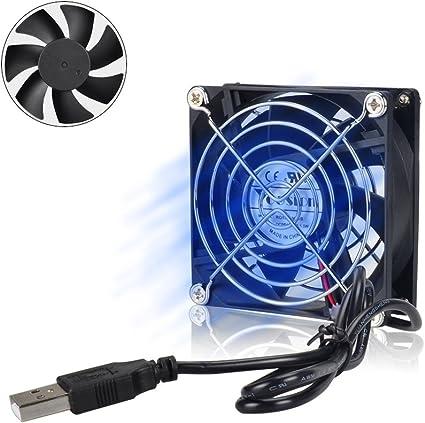 Yoosion 80 mm Mini Ventilador Caja USB Ventilador Extra Silencioso ...