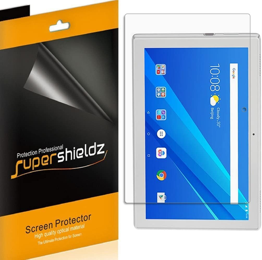 (3 Pack) Supershieldz for Lenovo Tab 4 10 (10.1 inch) Screen Protector, High Definition Clear Shield (PET)
