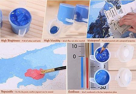 yangwuju Safety DIY Pintura por números Bricolaje Impresión de la Lona Mural Decoración hogareña - Fuente de Roma Trevi 40X50cm Sin Marco