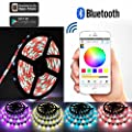 Toogod Smart RGBW LED Strip Light Kit,Bluetooth App Controlled with iPhone iOS Android,Party KTV Disco Christmas light,16.5ft +Controller + Power
