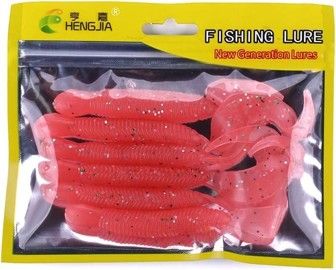 Zerama 12 cm 9,2 g Grub se/ñuelos de Pesca de la Cola rizada se/ñuelo pl/ástico Suave Artes de Pesca de Agua Dulce del Agua Salada