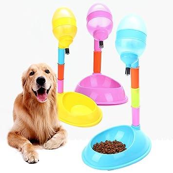 Sue Supply Dispensador de Agua de pie para Mascotas, 600 ML, Botella de Agua para Perros y Gatos, con Poste Desmontable: Amazon.es: Productos para mascotas