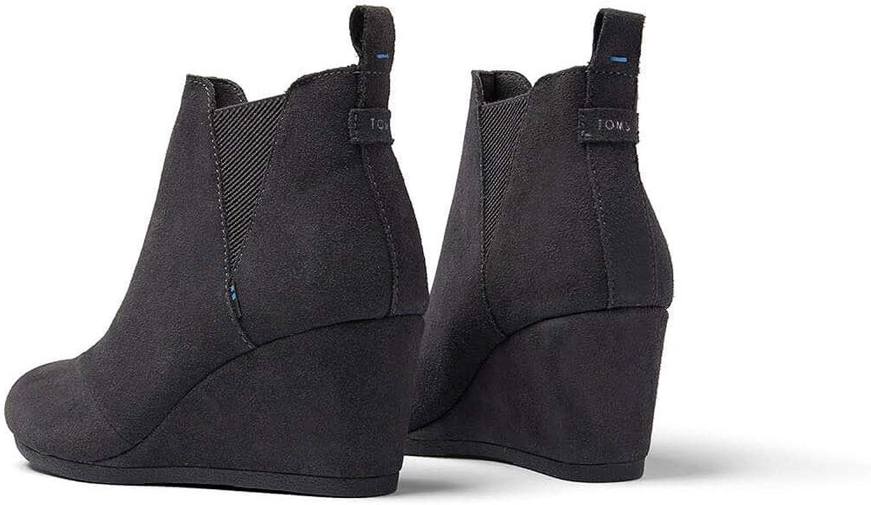 TOMS Alpargata Leather W Scarpa Ferro Forgiato Grigio Camoscio