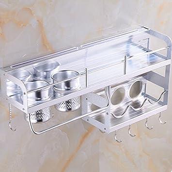 KANGYANLONG Ranura De Cuchillo De Cocina con 2 Portavasos De ...