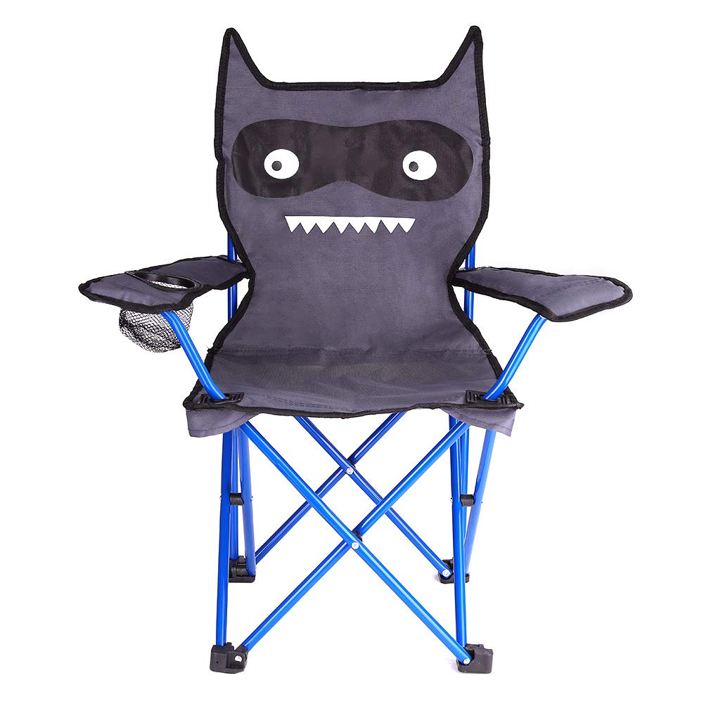 KABOER Kids Outdoor Folding Lawn and Camping Chair with Cup Holder, Little Devil Camp Chair