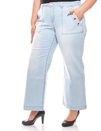 sheego 7//8 Bootcut Hose Capri Pants Damen  Plusgröße