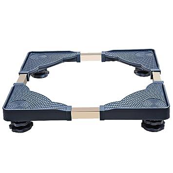 Muebles telescópicos base móvil multifuncional Dolly Roller ajustable con 4 pies giratorios ajustables de goma Ruedas giratorias para lavadora y ...