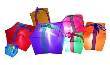 Casetta Di Natale Gonfiabile : Jf deco m decorazioni gonfiabili di natale scatole regalo