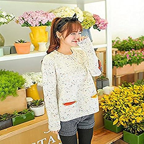 Cosanter Womens Jumper Sweater Winter Kiss Girls Owl Long Sleeve Pockets Loose Knitted Sweater For women Girls Students