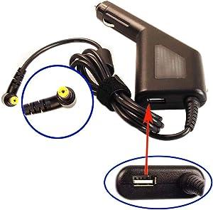 Car DC Power Adapter Charger + USB Port for Acer Aspire V3-571G-6407 V3-551-8887