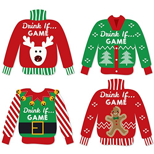 Ugly christmas sweater party games