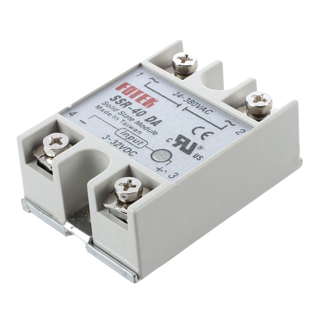 Semoic Temperature Control Halbleiterrelais SSR-40Da 40A 3-32V DC 24-380V AC