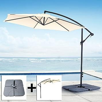 ampelschirm stnder elegant cheap stnder ohne platten ampelschirm rhodos xm natur inkl with. Black Bedroom Furniture Sets. Home Design Ideas