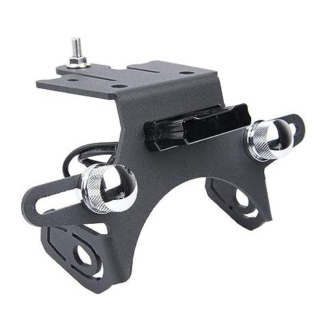 Amazon.com: Aluminium License Plate Holder Bracket Short For ...
