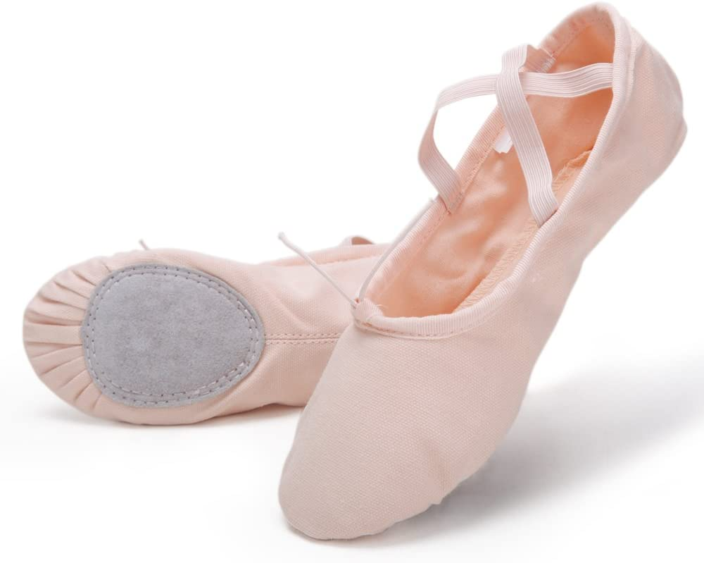 Swan Pro High-Count Cotton Canvas Ballet Dance Slippers for Toddlers/Kids/Girls/Women