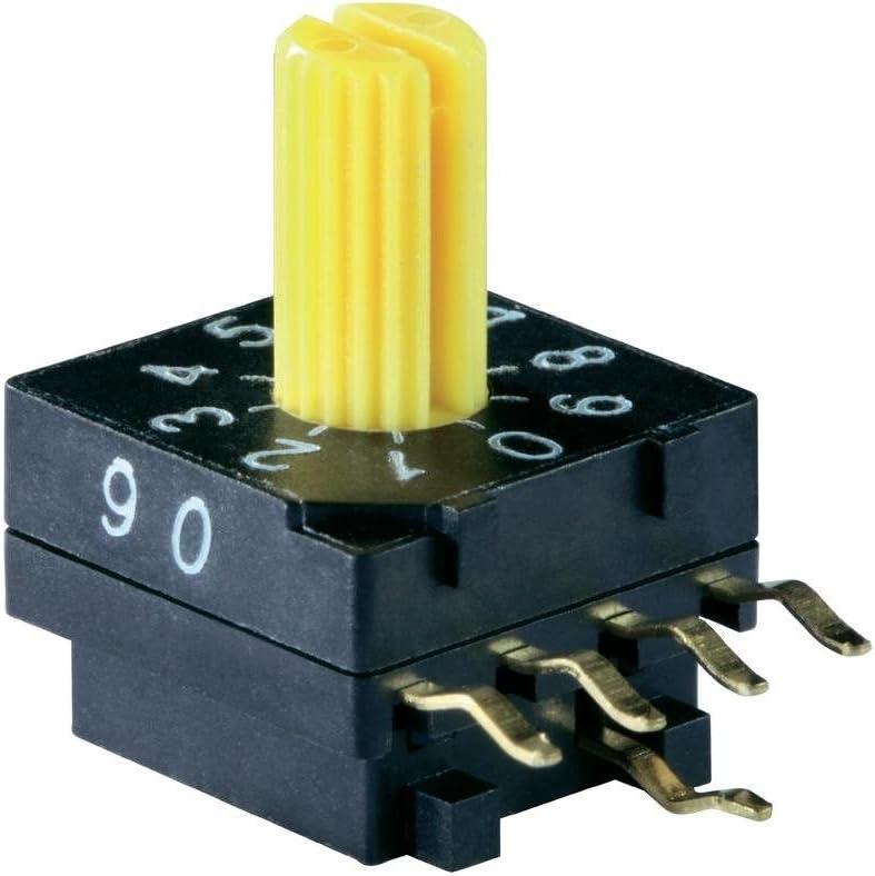 s Knitter-Switch Commutateur de Codage BCD 0-9 DRR 4010 Positions de Commutation 10 1 pc
