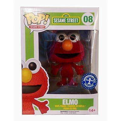 Funko Pop Sesame Street Elmo Exclusive Flocked Vinyl Figure: Toys & Games