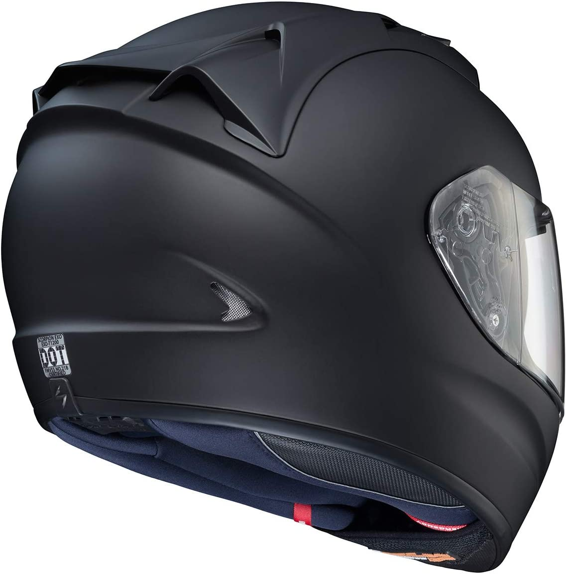 Scorpion EXO-T1200 Solid Street Motorcycle Helmet Black, Large