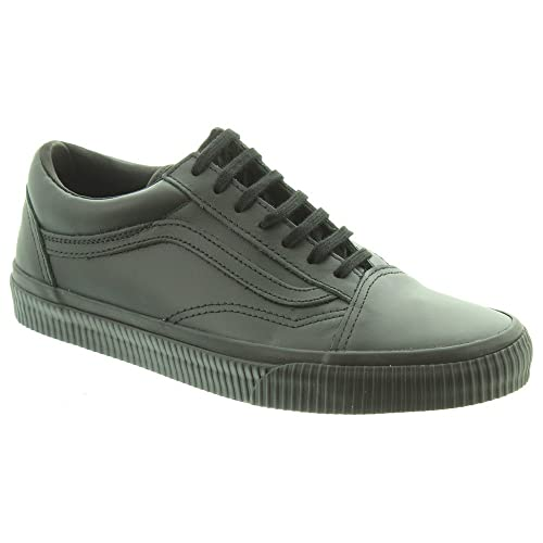 2d09714e6e Vans - Old Skool Leather Lace Shoes in All Black