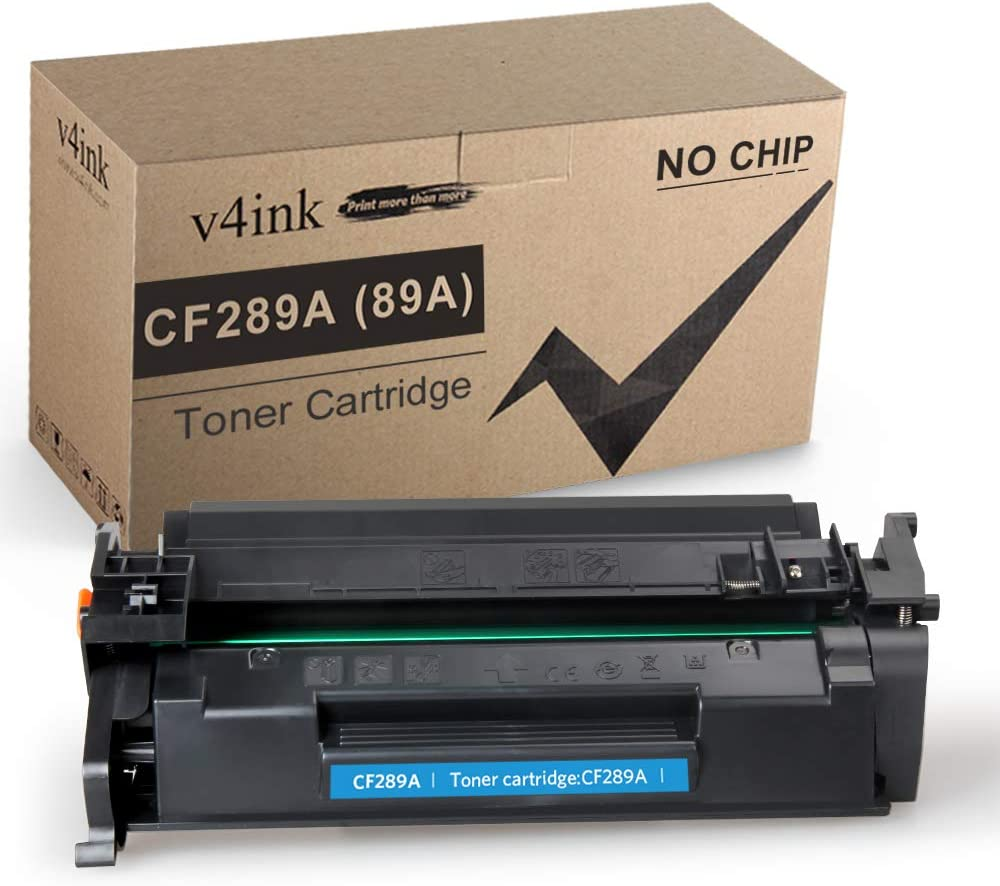 V4INK Compatible CF289A Toner Cartridge Replacement for HP 89A CF289A CF289X for use in HP Laserjet Enterprise 507n M507dn M507X M507dng M528dn M528f M528C M528Z (Black 1 Pack, Without Chip)