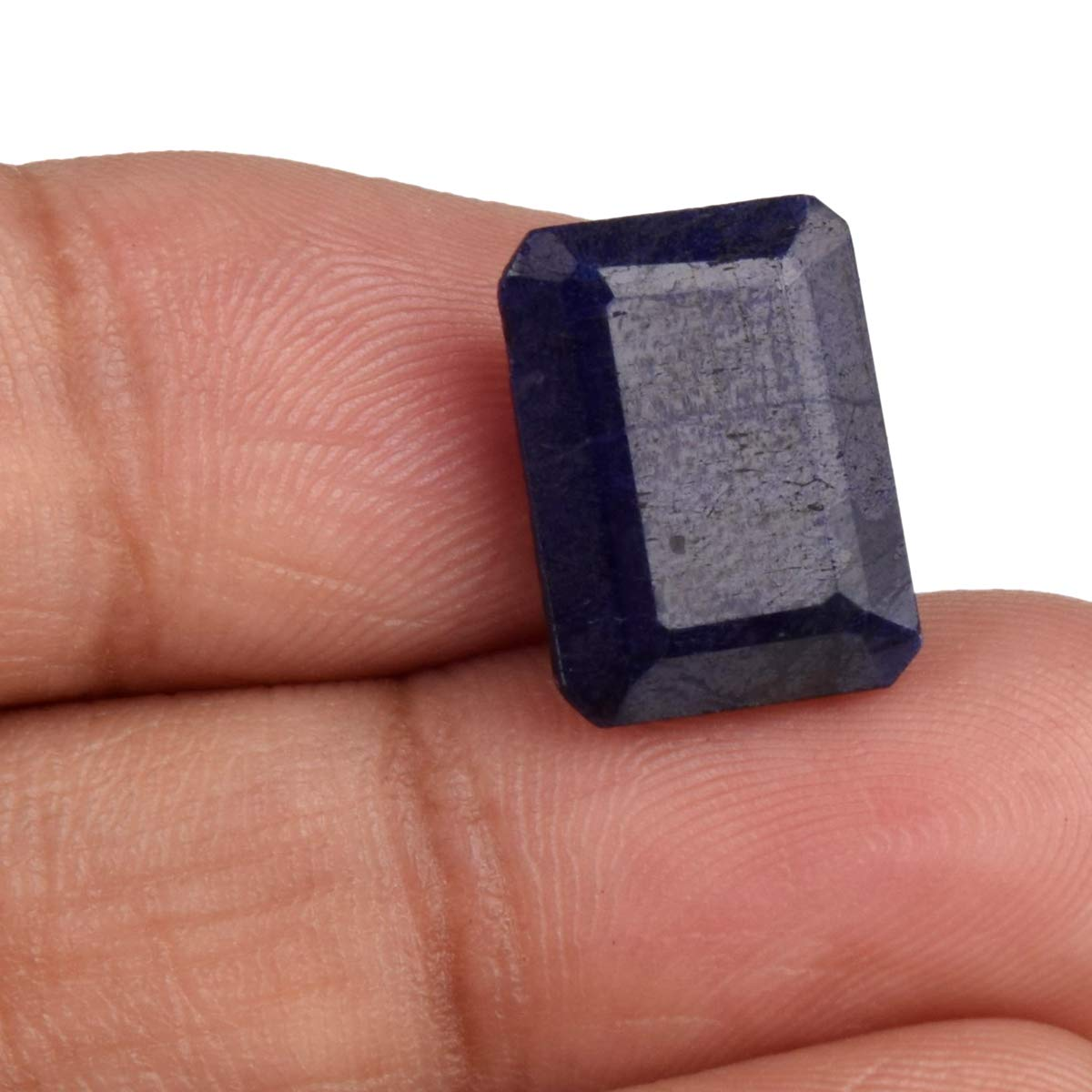 High Quality Blue Sapphire 8.65 Ct Faceted Blue Sapphire Emerald Cut Blue Sapphire Natural Sapphire Stone For Jewelry