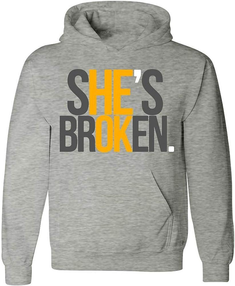 Shes Broken Beautiful Creative Design Hoodie