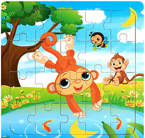 09 Training Top - Hip-top Wooden Puzzle Educational Developmental Baby Kids Training wooden toys (09)