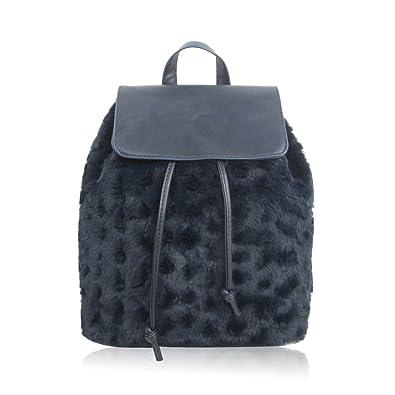 8e34ae60c9e0 SALE SALE New Designer Womens Girls Small Backpack Faux Fur Fashion Rucksack  Travel Bag (