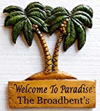 Piazza Pisano Palm Trees Tropical Personalized Sign