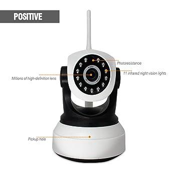 Cámaras de vigilancia IP Wifi Cámara de IP de seguridad doméstica de 1080P HD, detección de movimiento / con TF Shot de tarjeta Cámara IP de seguridad ...