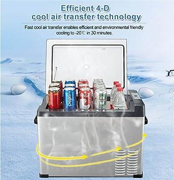 Refrigerador De Coche Auto Portatil Del Compresor 12V Del Refrigerador Del Coche 25 Litros Abra La Puerta En Ambas Direcciones: Amazon.es: Deportes y aire ...