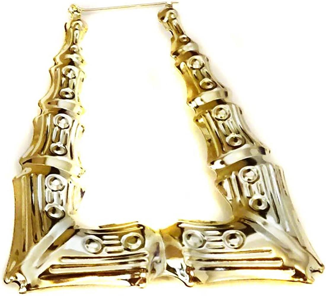 3\u201d drop Bamboo Triangular Red and Natural Colored Earrings with silver plated hooks