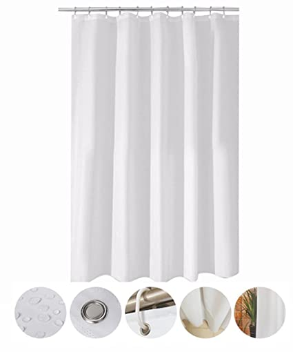 MOMONY Waterproof Fabric Shower Curtain Mildew Resistant Bath With Hooks 47 X 78 Inch