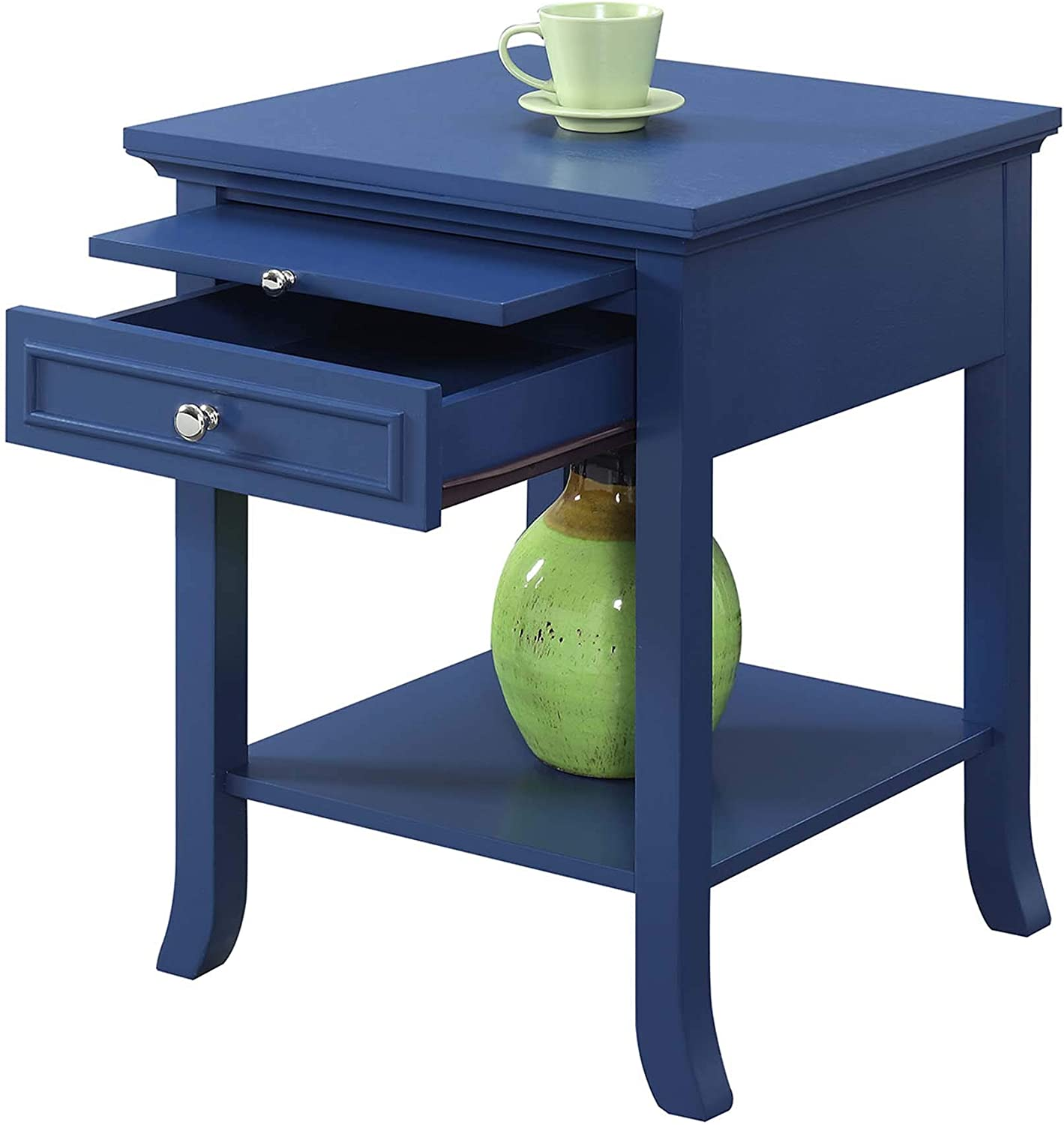 Espresso Convenience Concepts American Heritage Hall Table with Drawer and Shelf