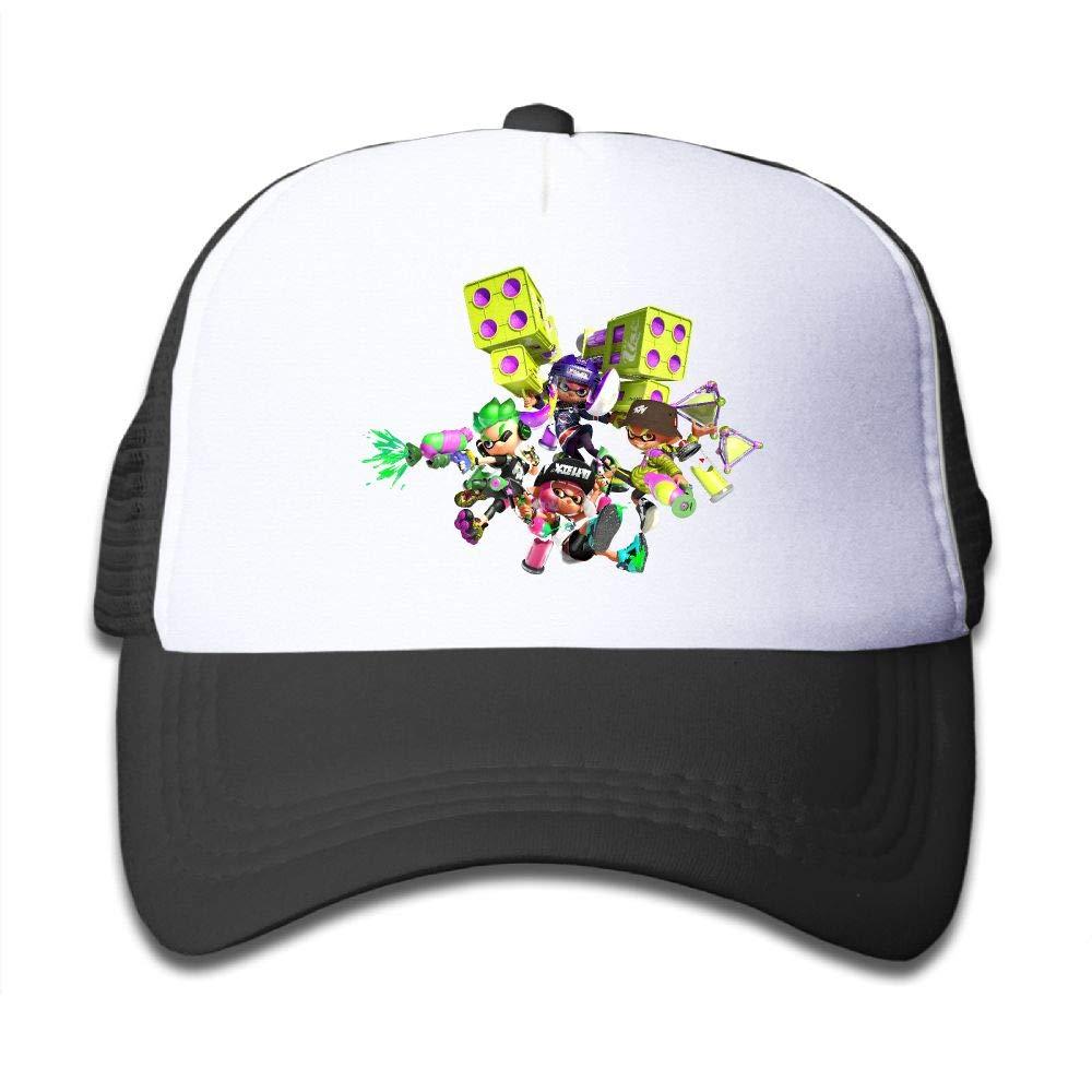 Aidear Splatoon 2 Character Rtwork Boys & Girls Mesh Hat Fashion Child Mesh Hat One Size