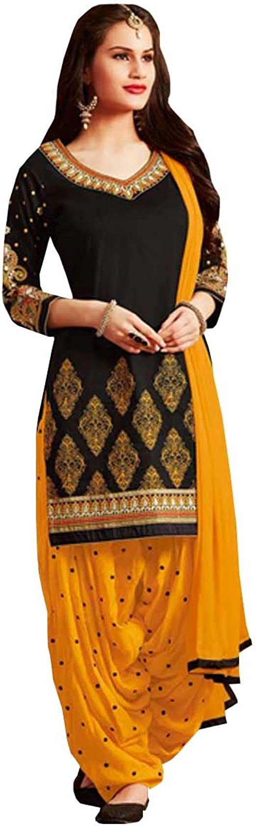 Amazon.com: Ready Made Patiala Salwar bordado traje de ...