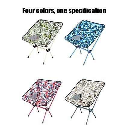 AGWa Chaise de camping Chaise pliante en plein air Dossier