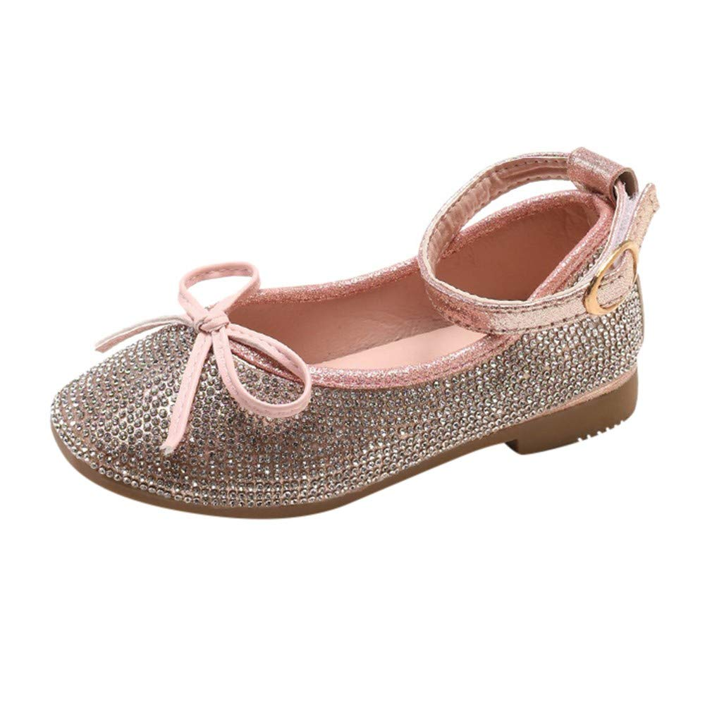 Moonker Girls Shoes 1-6 Years Old,Toddler Baby Girls Kids Crystal Princess Mary Jane Flat Shoes Wedding Dress Shoes
