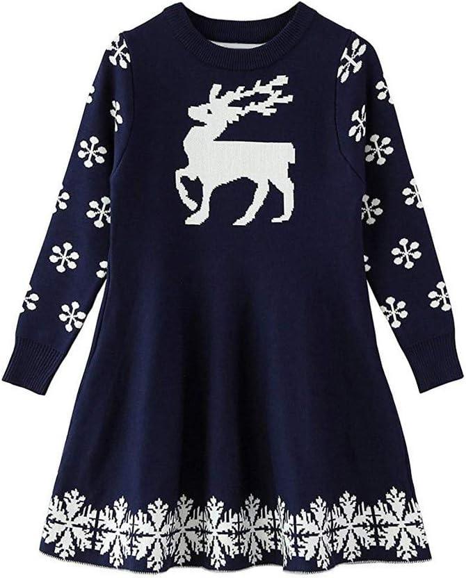 Amazon.com: Nuevo 2018. Vestido de Navidad para niñas de 1 a ...