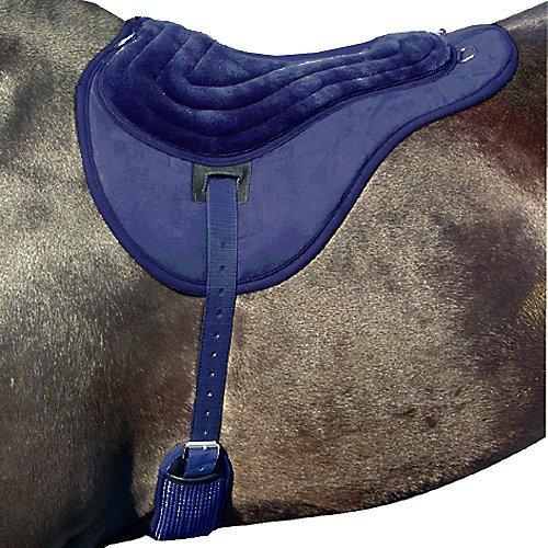 Intrepid International Comfort Plus Bareback Pad, Navy (Pad Back Saddle)