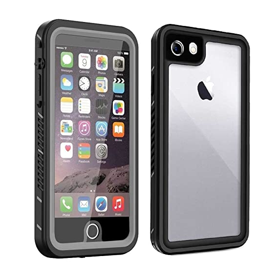 half off ca4b3 ac63b iPhone 7 & 8 Waterproof Case (Not Plus) with Built-in Clear Screen  Protector, Drop Resistant Full Sealed Underwater Protective Cover,  Dirtproof ...