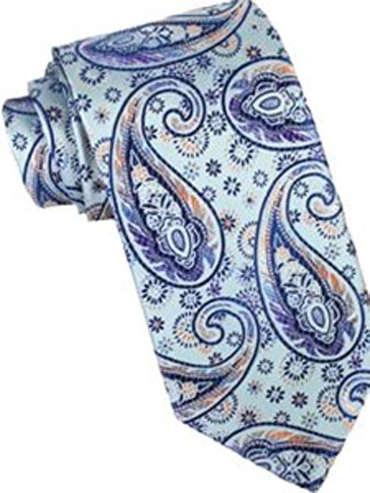 Robert Talbott Sky Carmel Silk Paisley Tie